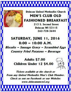 Mens Club Breakfast Poster June 2016