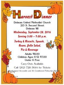 Harvest Dinner 2016 Poster
